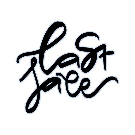 Last sale lettering design.
