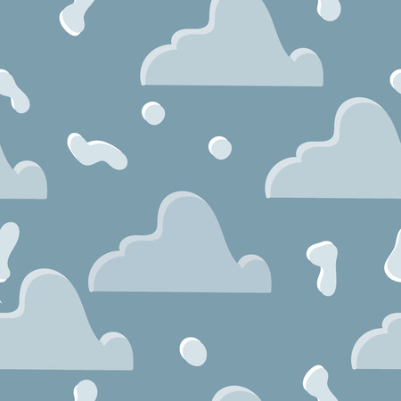 Seamless abstract pattern with snow heaps. Vector illustration.