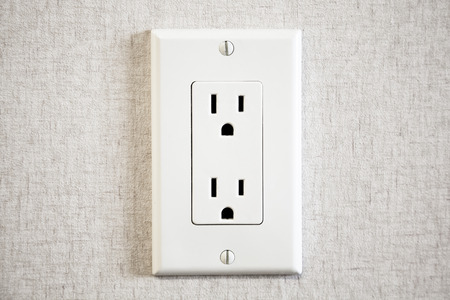 receptacle: Power Outlet Stock Photo