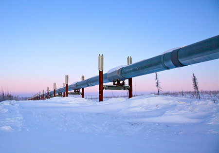 Trans-Alaska Pipeline, Sunrise photo