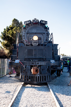 world   s largest: BLOOMINGTON, CA - FEB 1, 2014  Union Pacific s Big Boy 4014 Steam Locomotive is on display before its move to Cheyenne, WY for restoration  This is one of the world s largest steam locomotives