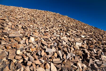 talus: Red Rocks cuarcita talud y Dark Blue Sky