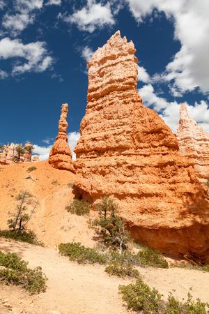 hoodoos: Limestone Hoodoos, Bryce Canyon  Stock Photo