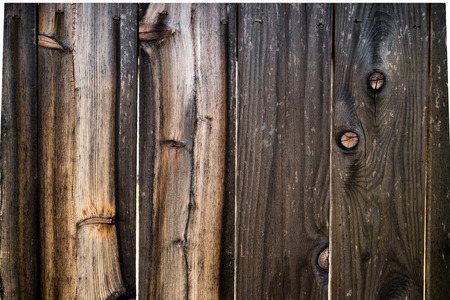 wood fence: Dark and Light Wooden Fence with Knots