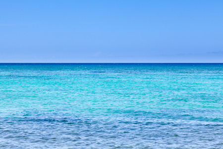 ocean: Wide angle view of Pacific Ocean from shores of Hawaii Stock Photo