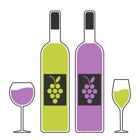 winemaking: set, emblem, symbol, wine festival, wine tasting, multicolor. vector illustration. Illustration