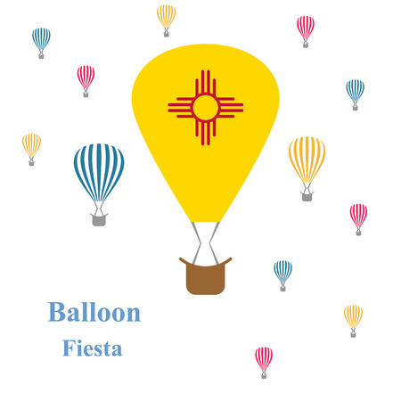 albuquerque: holiday card Balloon Fiesta.