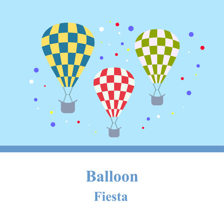 celebration: Celebration Balloon Fiesta. Illustration