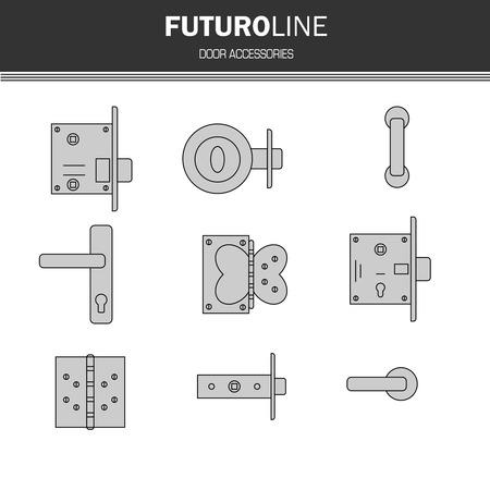 hinge: futuristic gray line element.