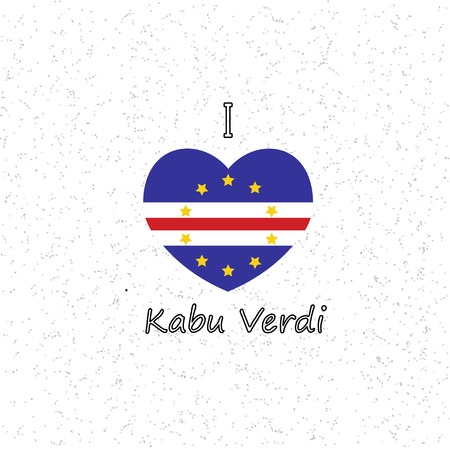 heart with a flag of Cape Verde. vector illustration Vector Illustration