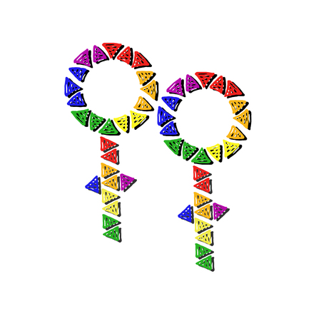 male symbol: Double rainbow male Limitless symbol Illustration