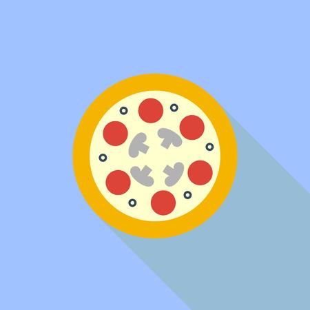 Icon pizza. Symbol. Vector illustration.