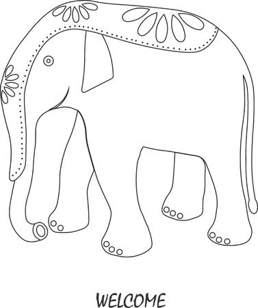 one of a kind: elephant. flat. logo, symbol. vector illustration.