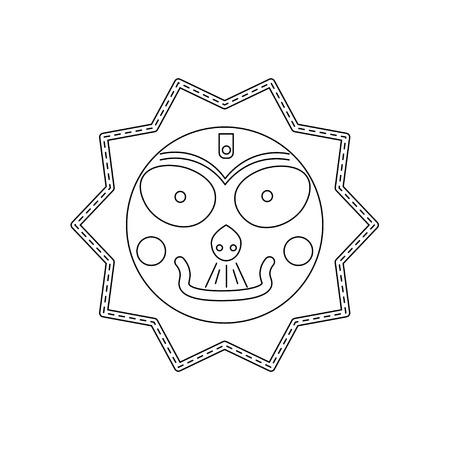 stole: Jagannath, Balabhadra, Subhadra. linear, futuristic icons. vector illustration. Vectores