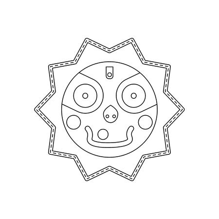 robo: Jagannath, Balabhadra, Subhadra. lineal, iconos futuristas. ilustración vectorial.