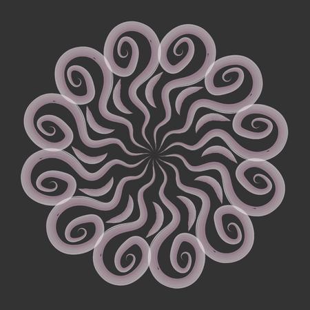 mandala watercolor circular pattern. vector illustration. Illustration