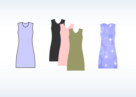 colorful dress: Colorful dress template. vector illustration Illustration