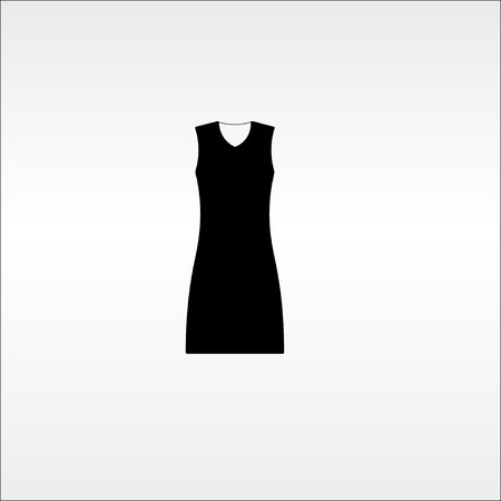 little black dress: little black dress. store. vector illustration.