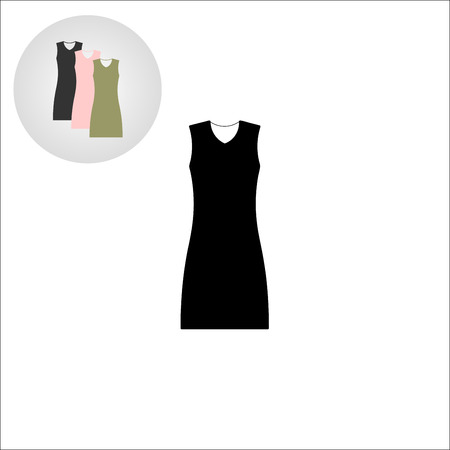 little black dress: little black dress. set for the store. vector illustration. Illustration