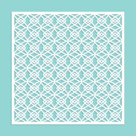 A template for laser cutting. A square panel with a geometric pattern. Decorative element.