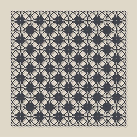 forge: Decorative panel for laser cutting. Universal geometric pattern. The ratio is 1: 1. Vector illustration.