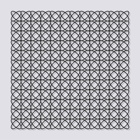 forge: Decorative panel for laser cutting. Universal linear geometric pattern. The ratio is 1: 1. Vector illustration. Illustration