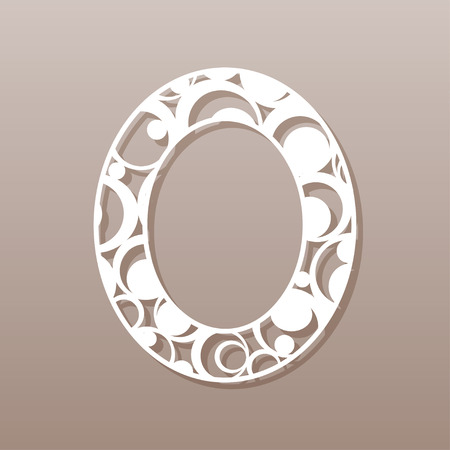 tree isolated: The letter O for laser cutting. English alphabet. Vector illustration.