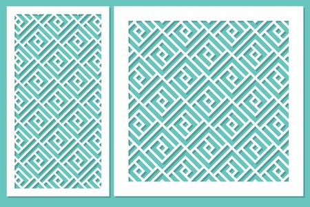 Set geometric ornament template Vector illustration.