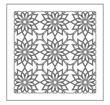 Pattern geometric ornament. Card for laser cutting. Element decorative design. Geometric pattern. Vector illustration. 向量圖像