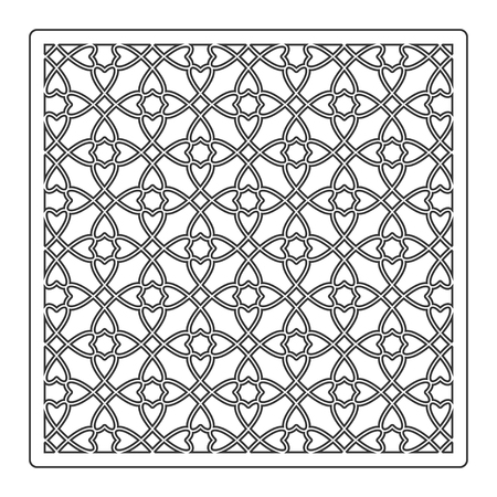 Pattern geometric ornament. Card for laser cutting. Element decorative design. Geometric pattern. Vector illustration. Stock Illustratie