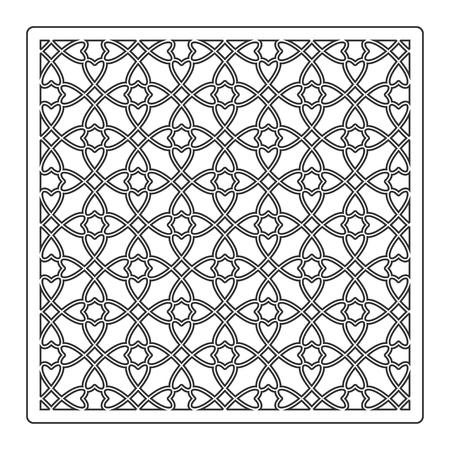 Pattern geometric ornament. Card for laser cutting. Element decorative design. Geometric pattern. Vector illustration.