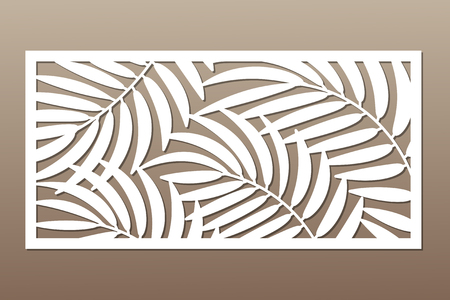 Decorative card for cutting in palm leaves pattern.