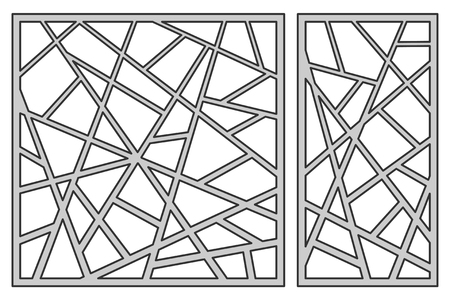 Set template for cutting in square line diagonal pattern. Illusztráció