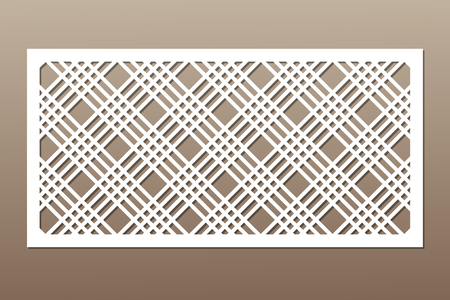 Decorative card for cutting. Geometric line pattern.