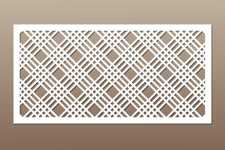 Decorative card for cutting. Geometric line pattern.