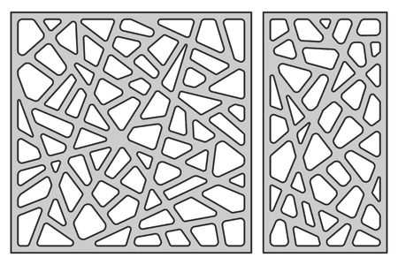 Set template for cutting. Abstract line pattern. Laser cut vector illustration.