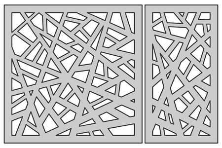 Set template for cutting. Abstract line pattern.