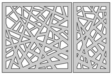 Sjabloon instellen voor snijden. Abstract lijnpatroon. Stock Illustratie