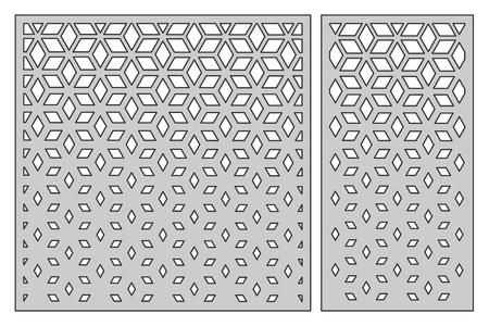 切断用のテンプレートを設定します。正方形メッシュ パターン。レーザーカット。