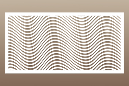 Template for cutting. Geometric line pattern. Laser cut vector illustration.