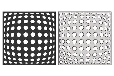 Template for cutting. Geometric circle pattern. Laser cut vector illustration. 일러스트