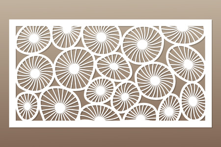Template for cutting. Round art pattern. Laser cut.