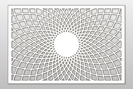 Template for cutting. Mandala, Arabesque pattern.