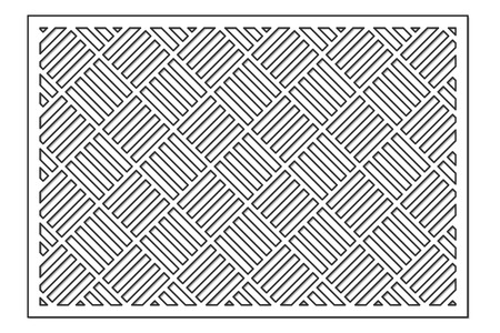 Template for cutting. Geometric line, square pattern. Laser cut. ratio 2:3. Vector illustration.