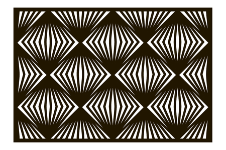 Template for cutting. Square line, geometric pattern. Laser cut. ratio 2:3. Vector illustration.