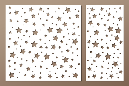 Set decorative panel laser cutting  wooden panel.