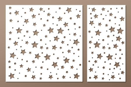 Set decorative panel laser cutting  wooden panel. Stok Fotoğraf - 99116988