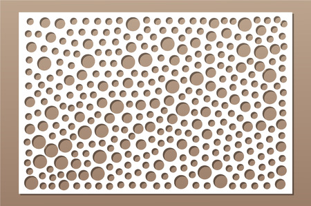 Decorative card for cutting. Repeat points pattern. Laser cut panel. Ratio 2:3.