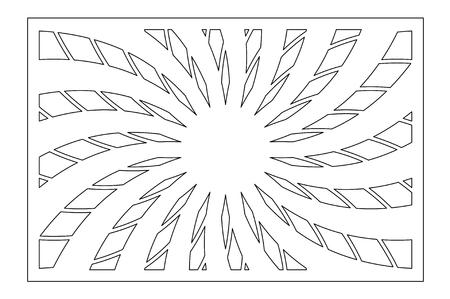 Template for cutting. Flower, geometric pattern. Laser cut. Set ratio 2:3.