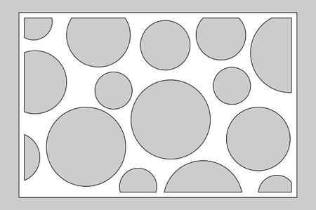 Decorative card for cutting laser or plotter.  geometric art circle pattern panel. Laser cut.
